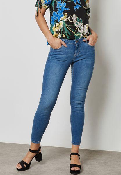 Mid Wash Harper Skinny Jeans