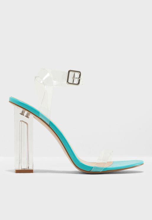 Alia Strappy Perspex High Heel