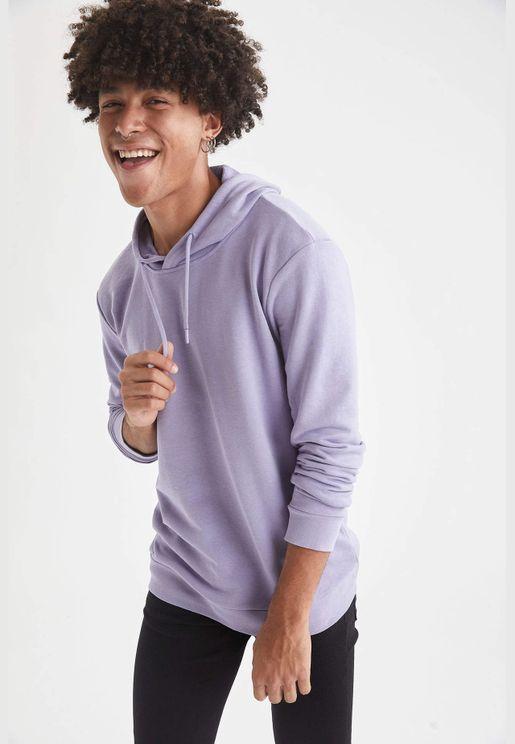 Man Regular Fit Hooded Sweat Shirt