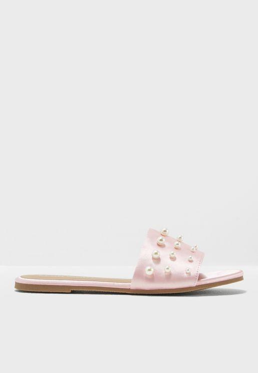 Anna Pearl Embellished Sandal