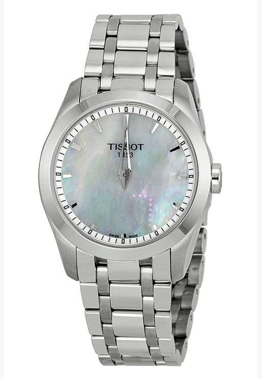 ساعة تيسو كوتورييه كوارتز بسوار فولاذي - T035.246.11.111.00