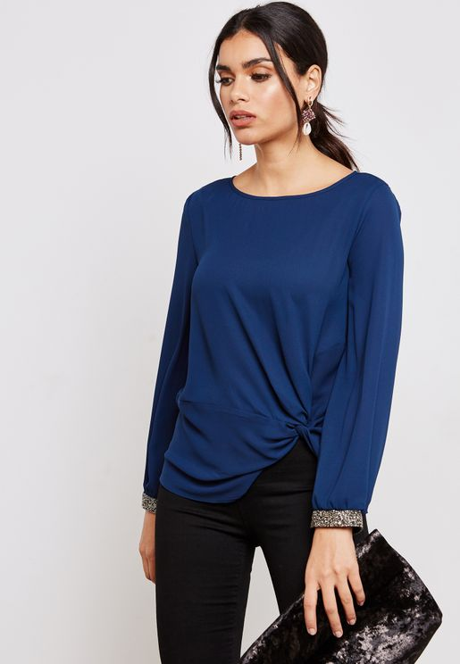 Embellished Cuff Detail Top