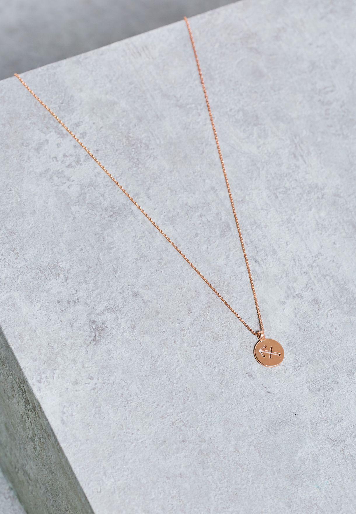 86c375ceae7 Shop Pieces gold Halle Sagittarius Necklace for Women in Qatar ...