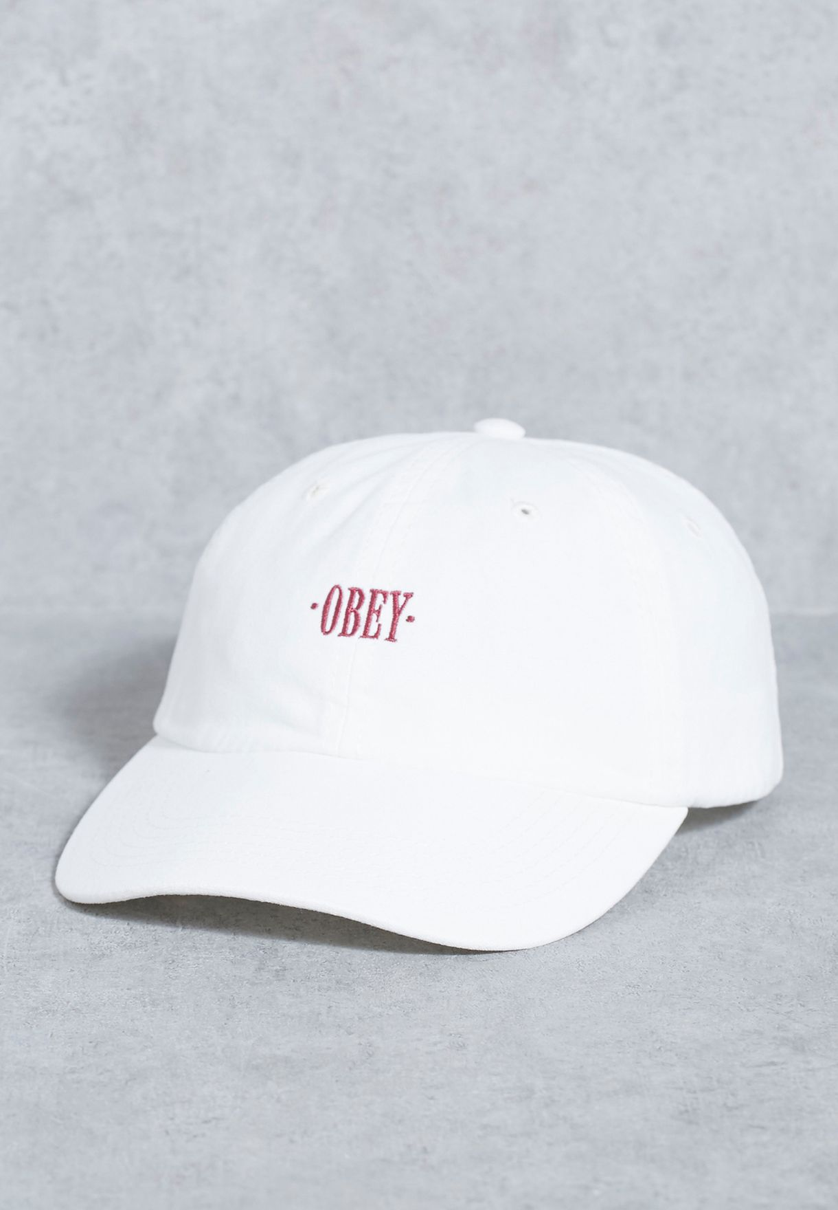 fd2fef84c93 Shop Obey white Endless 6 Panel Cap 100580067 for Men in Qatar -  OB965AC38SJT