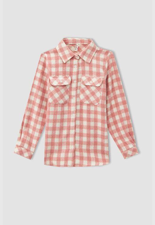 Girl Regular Fit Long Sleeve Shirt