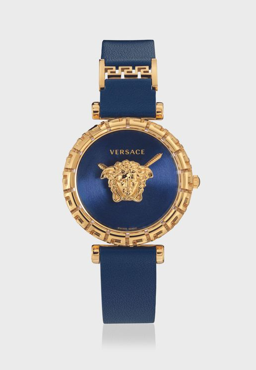 ساعة فيرساتشي جريكا بسوار جلدي للنساء - VEDV00219