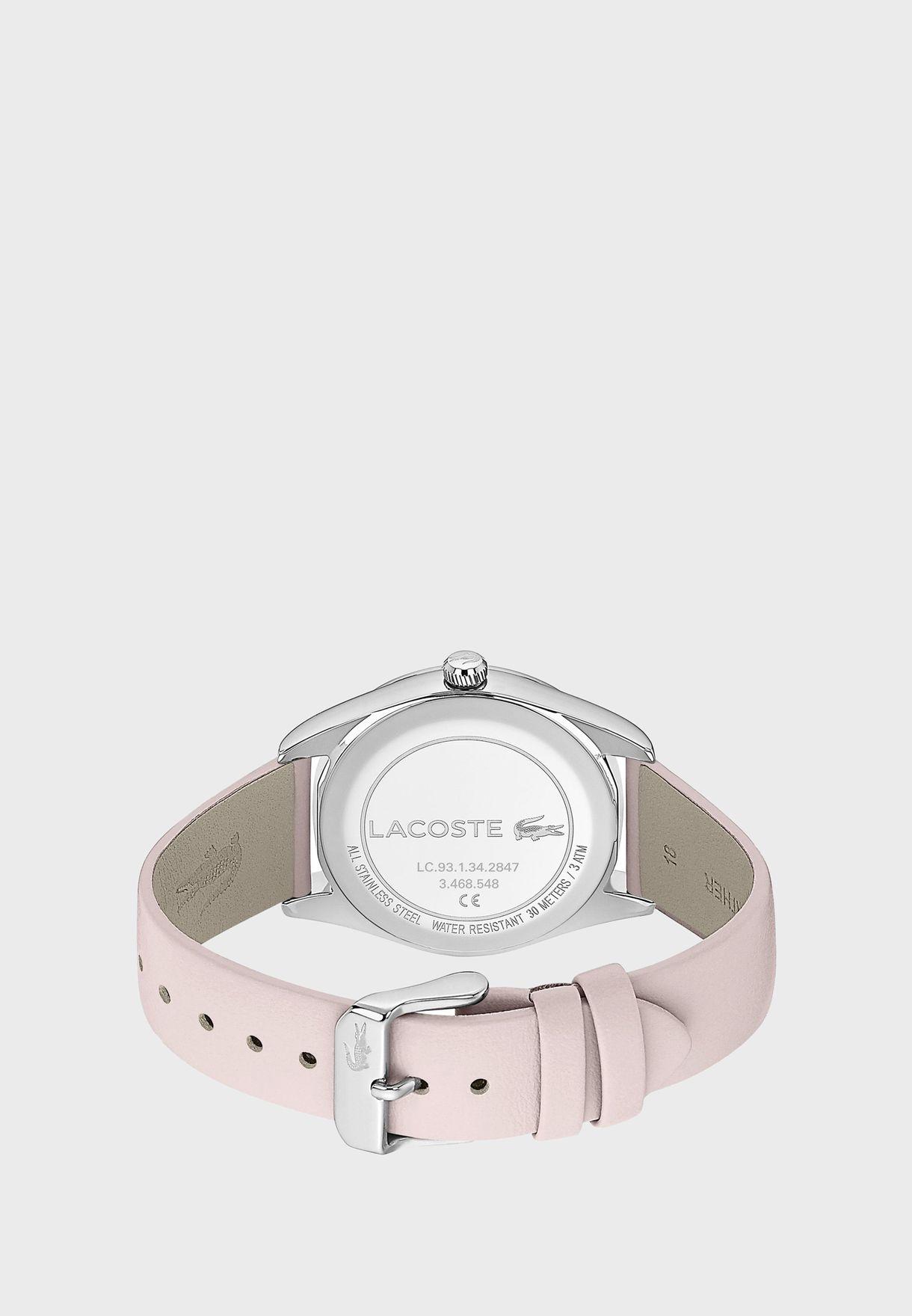 ساعة لاكوست باريزيان بسوار جلدي للنساء - 2001098