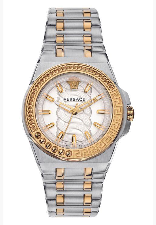 ساعة فيرساتشي من الستانلس ستيل رياكشن للنساء - VEHD00420