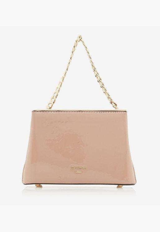 حقيبة ديلينا دي مزينة بسلسلة معدنية