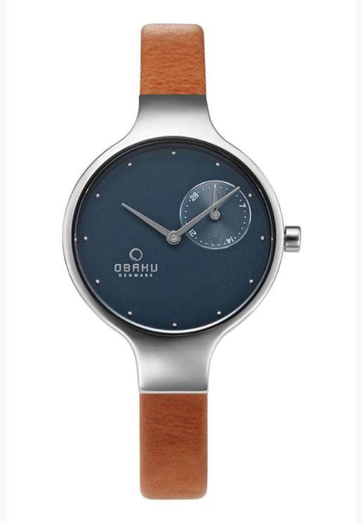 ساعة نسائية بسوار جلدي من أوباكو - V201LDCLRZ