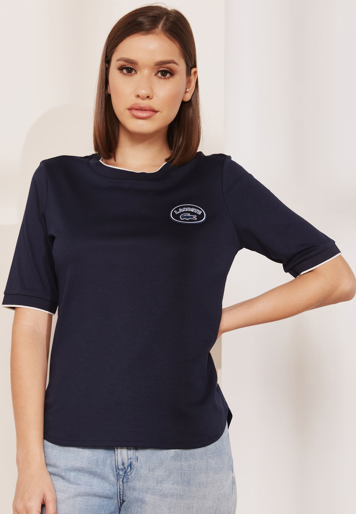 bfd656a5f Shop Lacoste navy Logo T-Shirt TF8804 for Women in UAE - LA014AT38QUB