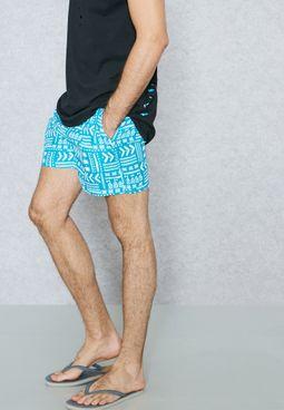 Aztec Print Swimshorts