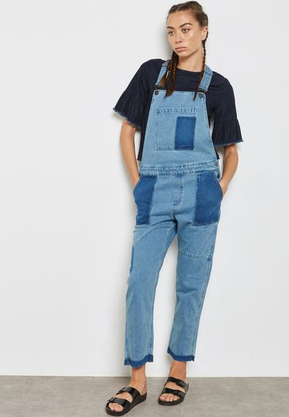 Denim Patch Dungaree