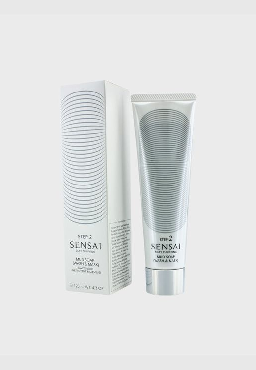 Sensai Silky Purifying Mud Soap - Wash & Mask (New Packaging)
