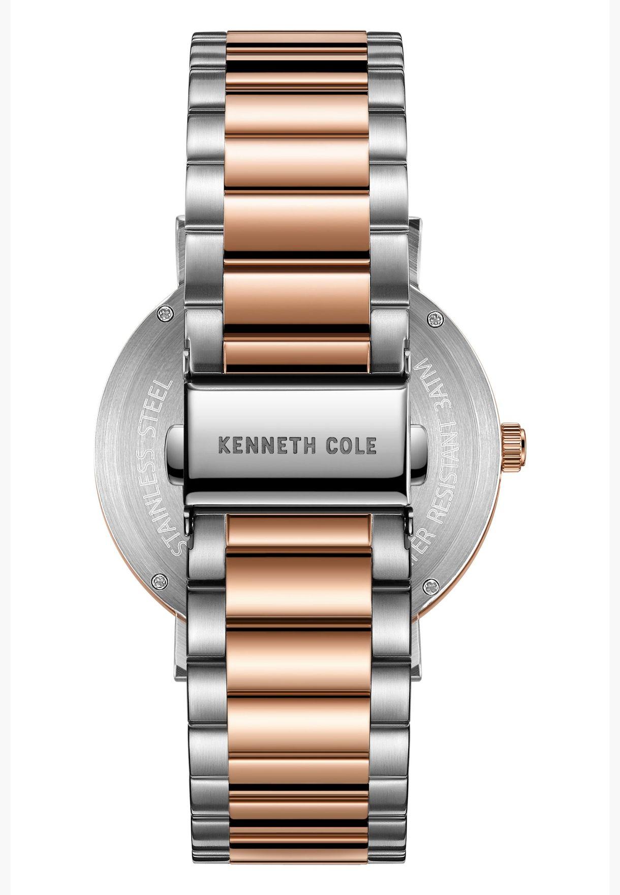 كينيث كول طقم ساعة يد بسوار ستانلس ستيل للرجال - KC51027002