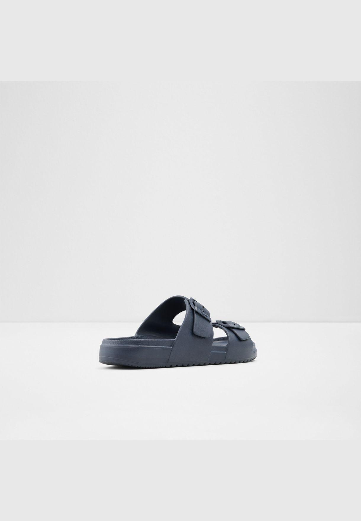 ALDO HIDEO Men Synthetic Leather Sandal Flat Heel Euro 46 Blue