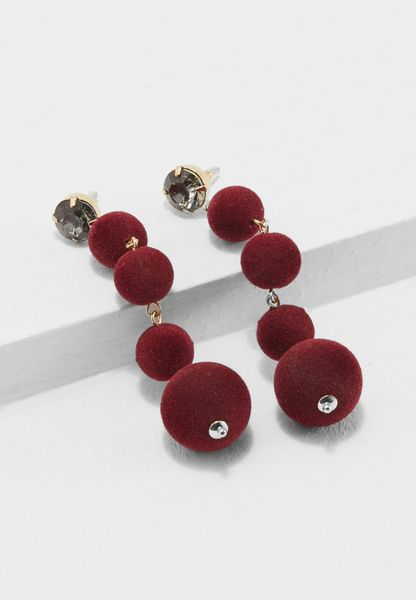 Flocked Ball Earrings