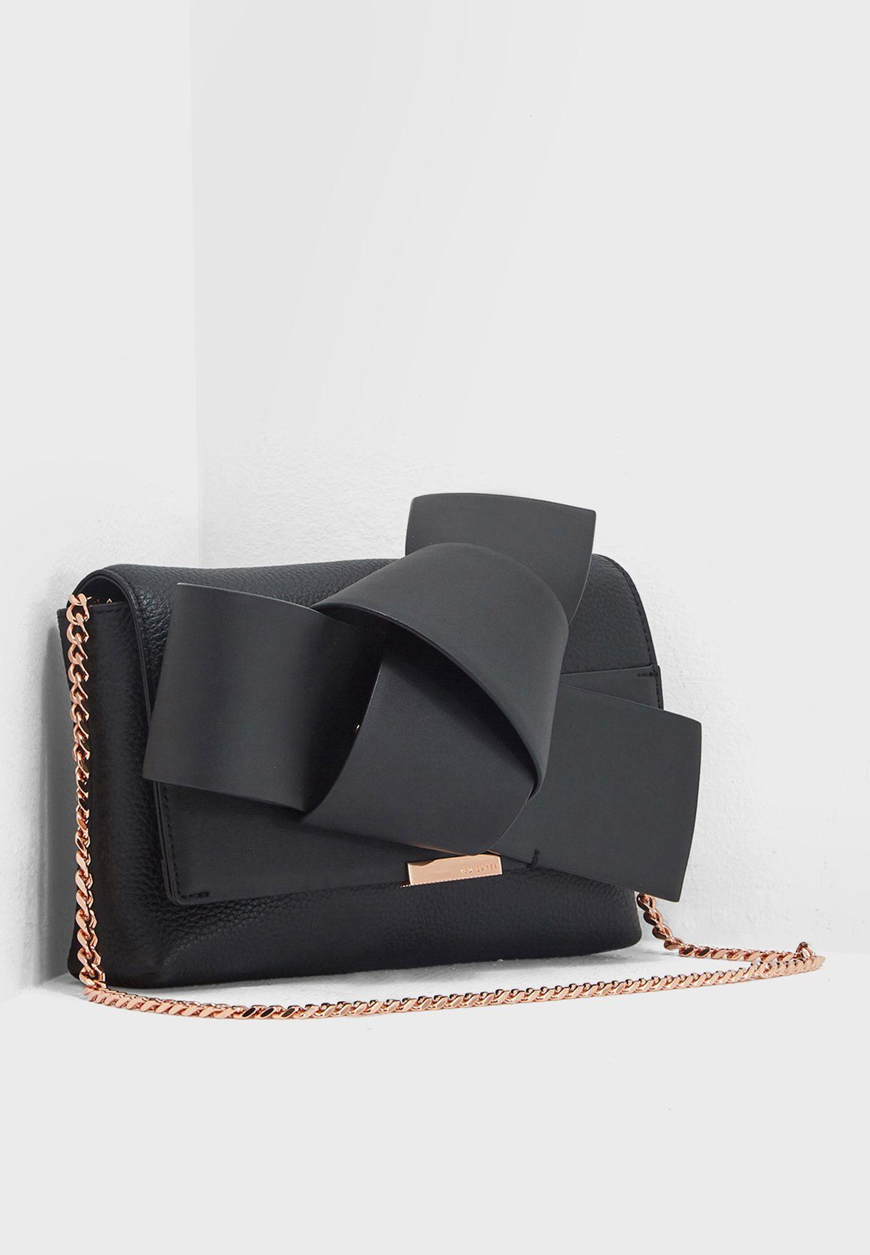 7cb4708e4 Shop Ted baker black Agentah Knot Bow Bag 145765 for Women in Saudi -  TE456AC38XBP