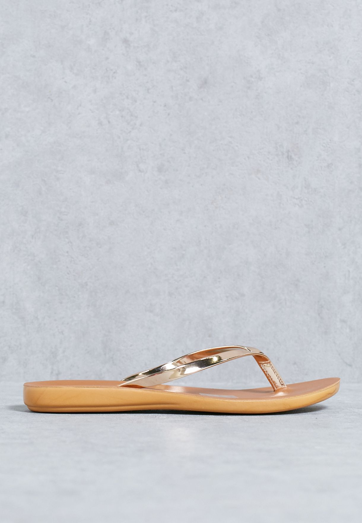 5bf476b013ff Shop Truffle gold Thong Sandals PT-052705 for Women in UAE ...