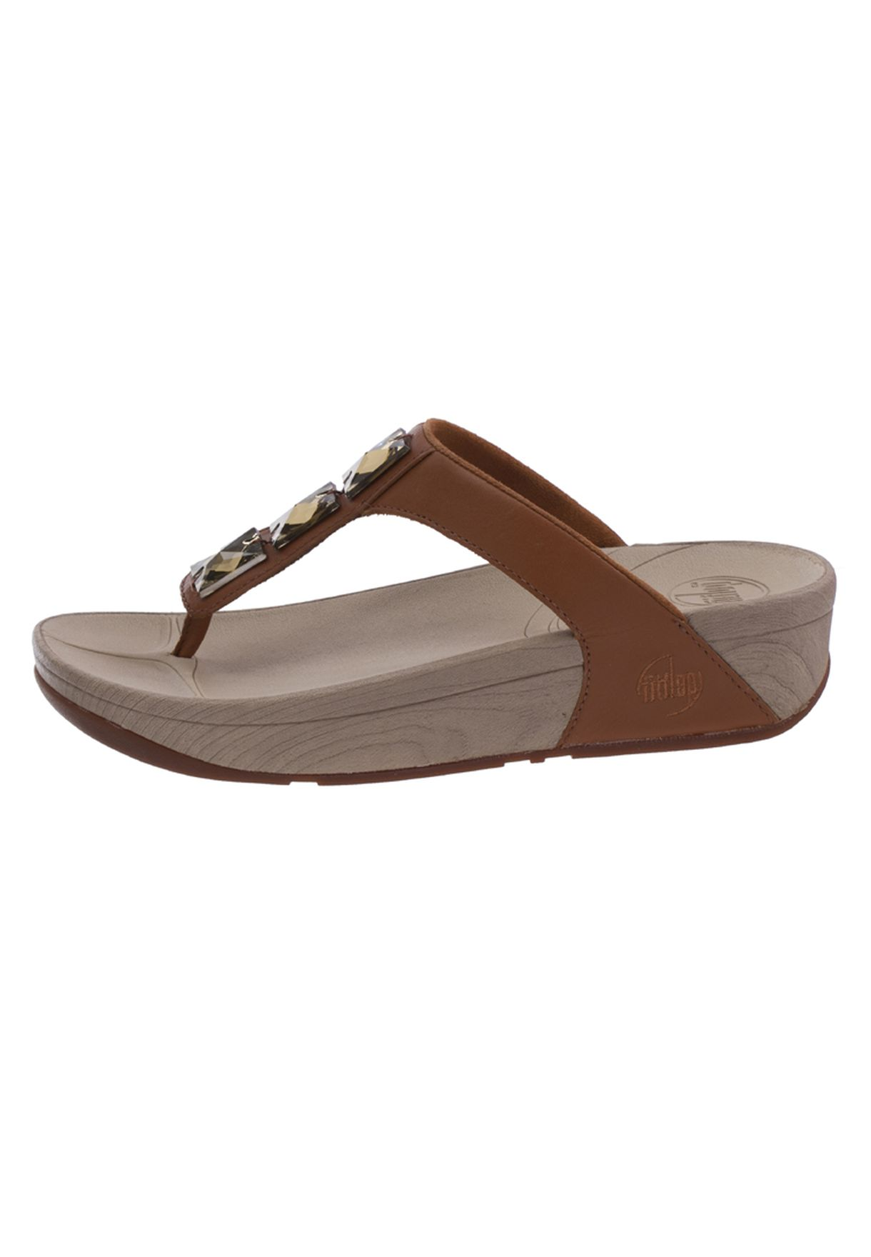 f54828210f78 Shop Fitflop browns Embelished Flat Sandals for Women in Bahrain ...
