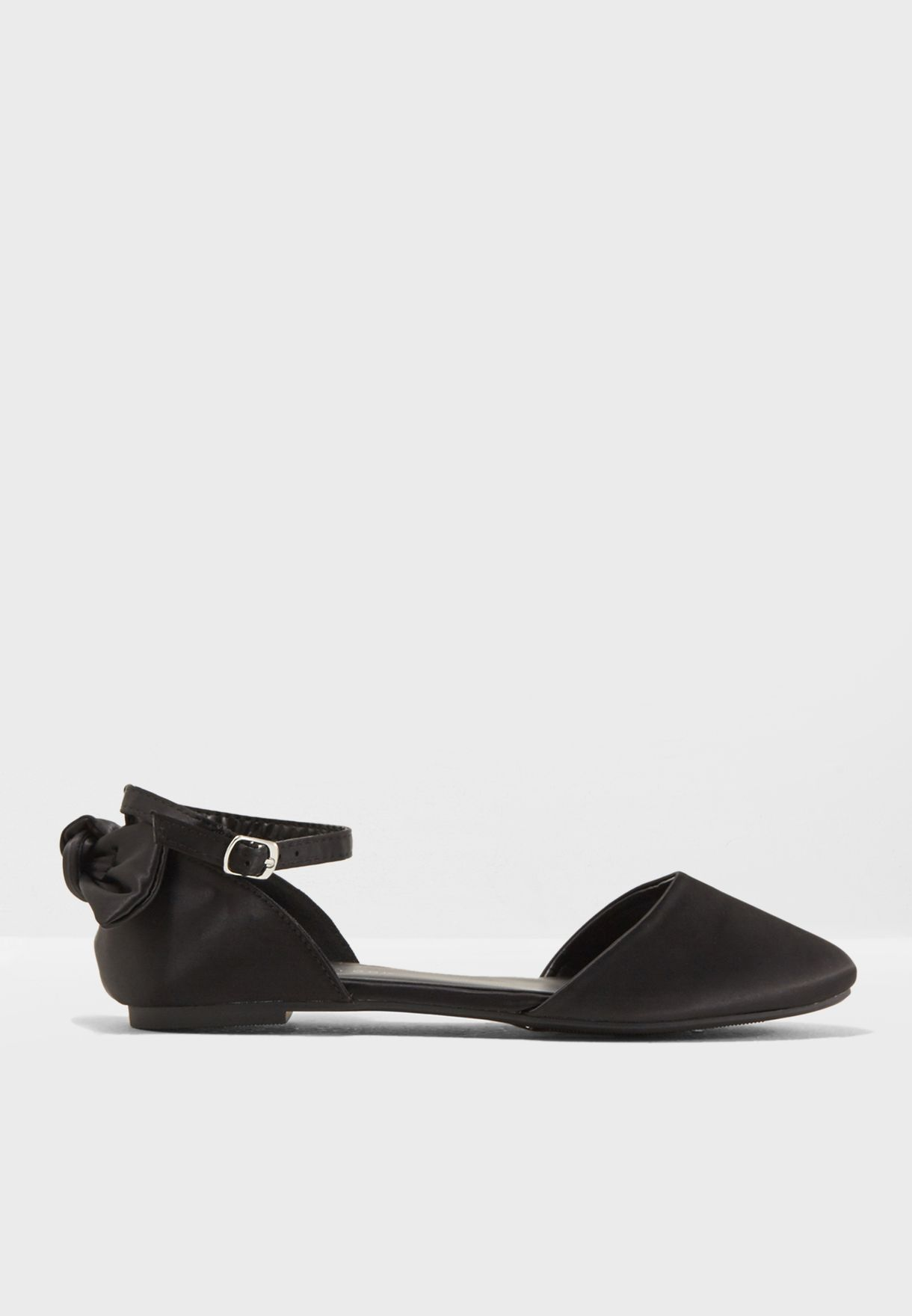 Letter Satin Bow Back Slip On