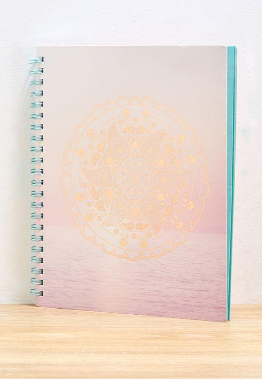 A4 Dream Catcher Sunset Campus Notebook