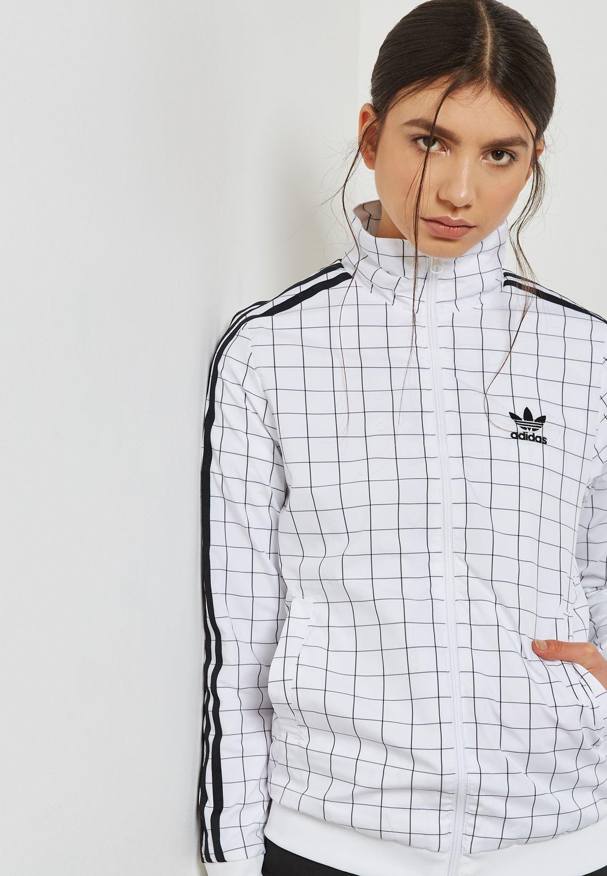 5c4aa0e84bcc Shop adidas Originals white Colorado Track Jacket CE1734 for Women ...