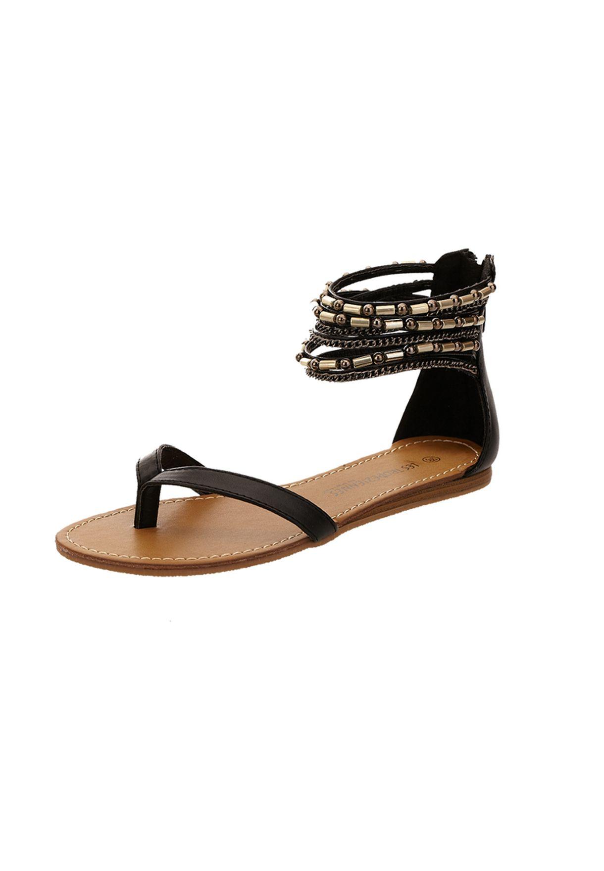 b750d7a6b Shop Les Tropeziennes black Genial Flat Sandals for Women in Kuwait -  LE146SH38XJD