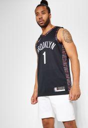 Brooklyn Nets #1 D'Angelo Russell NEWCity Edition Swingman Jersey