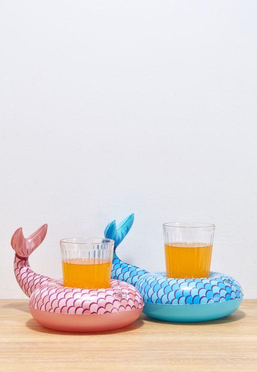 2 Pack Mermaid Tails Beverage Boat