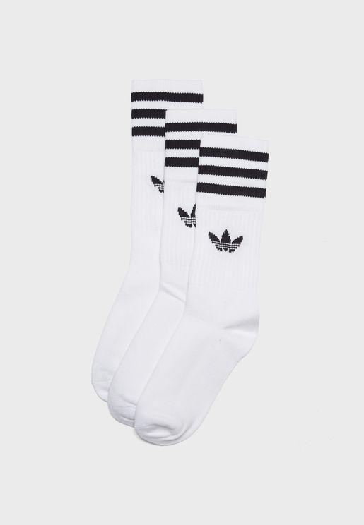3 Pack Trefoil Socks