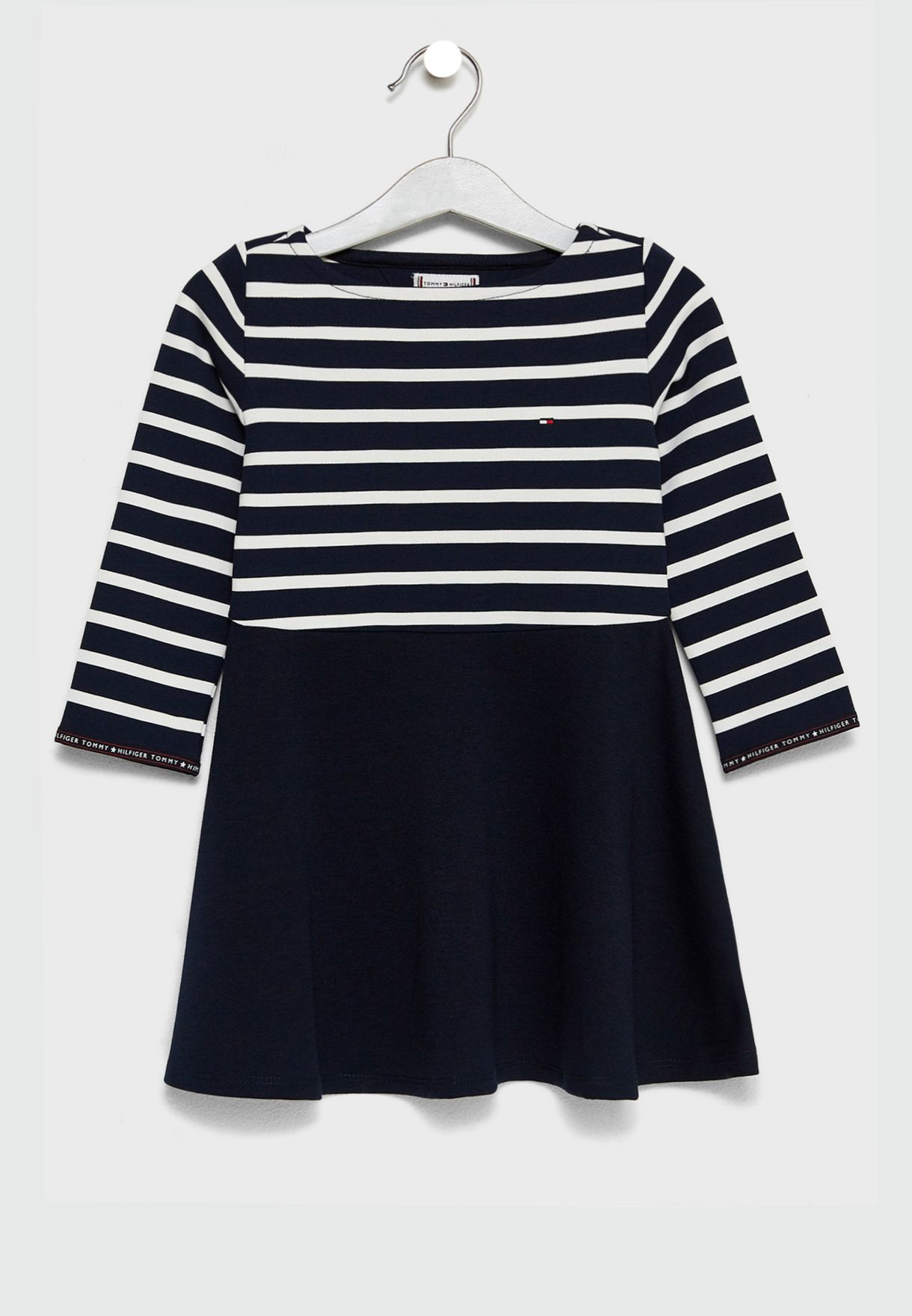 d8cccc9d6f7d Shop Tommy Hilfiger navy Little Striped Dress KG0KG03779 for Kids in ...