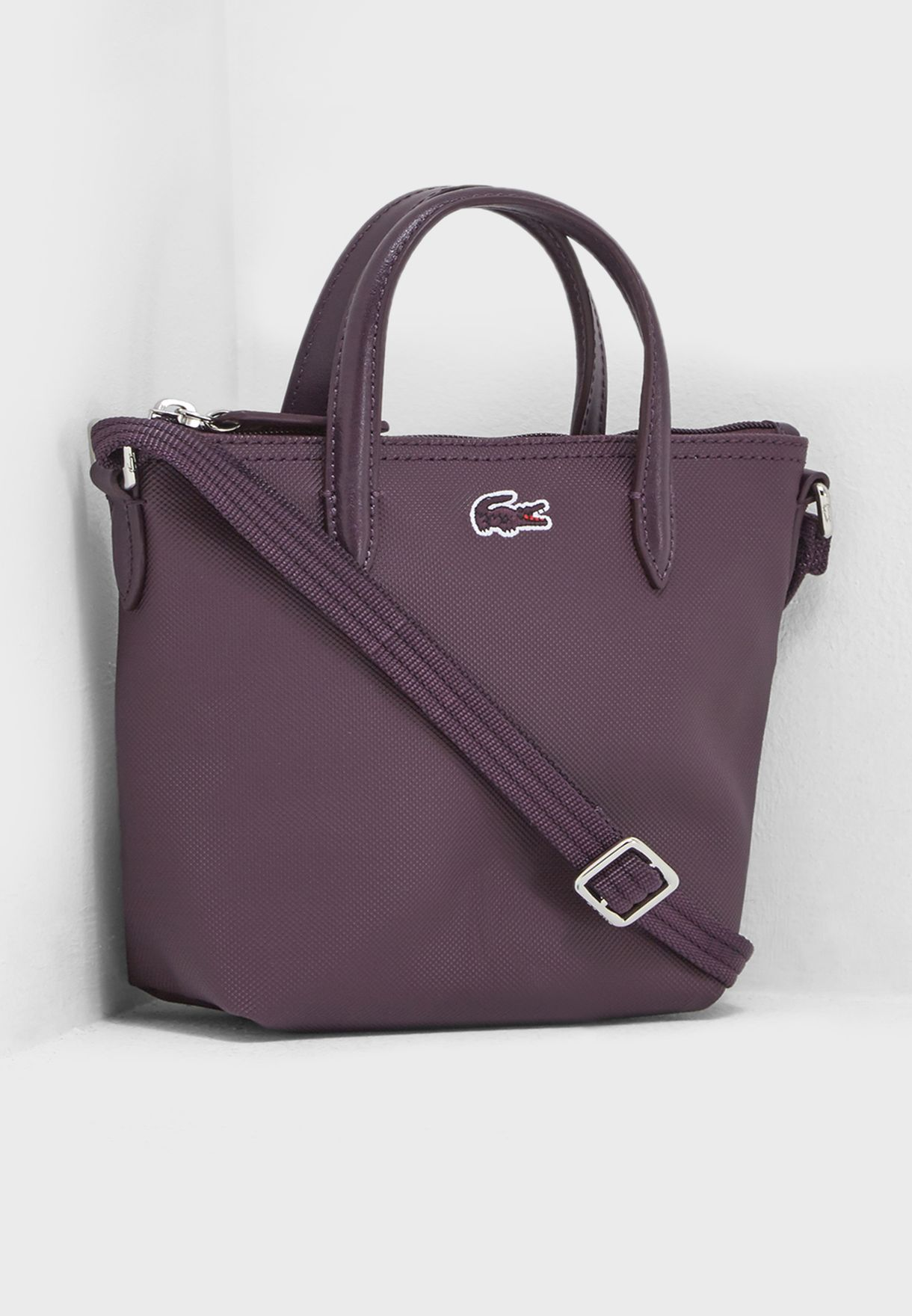 419d449269dfe4 Shop Lacoste purple Extra Small Shopper Crossbody NF2609PO-972 ...