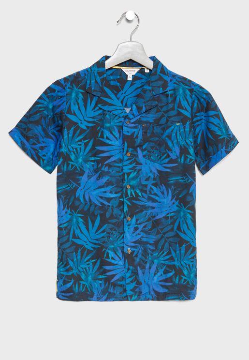Teen Palm Print Shirt