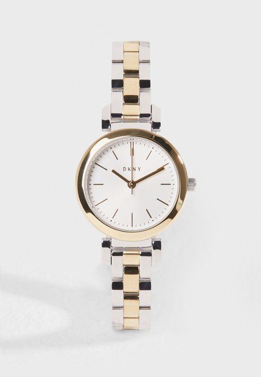 ساعة انيقة بشعار الماركة
