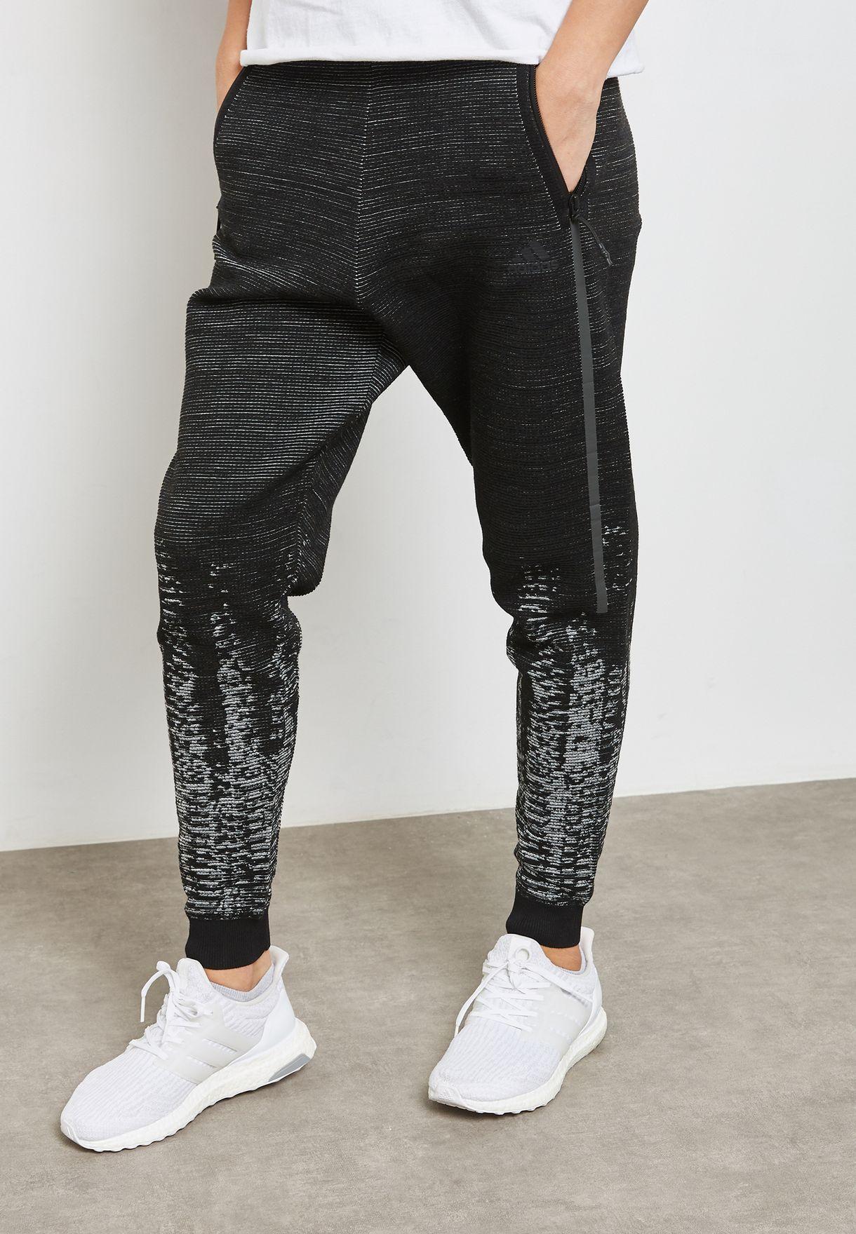 e452d7ed206c Shop adidas black Z.N.E Pulse Knit Sweatpants BQ4839 for Women in ...