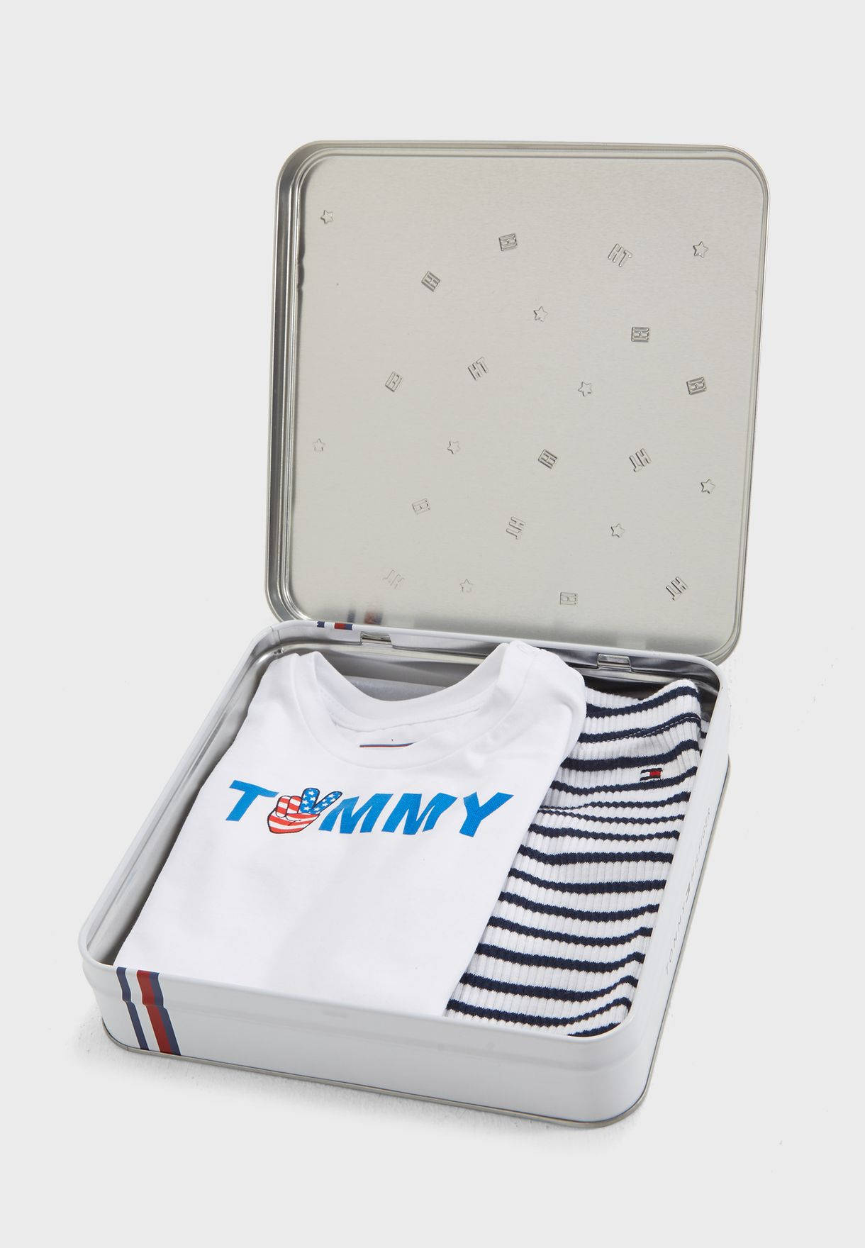a3fb9d45 Shop Tommy Hilfiger white Infant T-Shirt + Sweatpants Gift Set KN0KN00842  for Kids in UAE - TO279AT38DUR