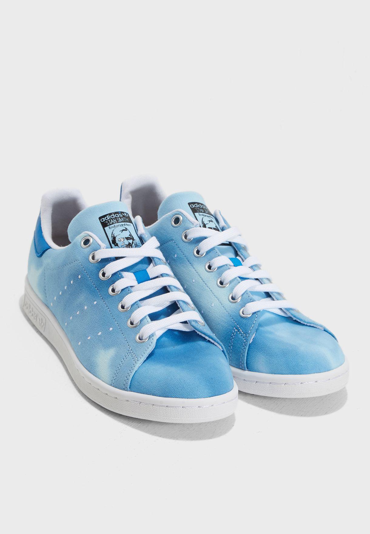 1ac547360 Shop adidas Originals blue Pharrell Williams Hu Holi Stan Smith ...