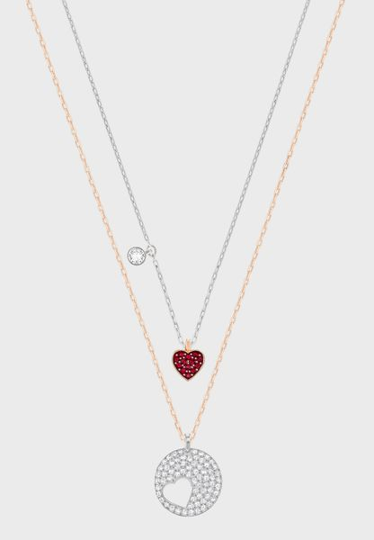 2 Pack Heart + Siam   Necklaces
