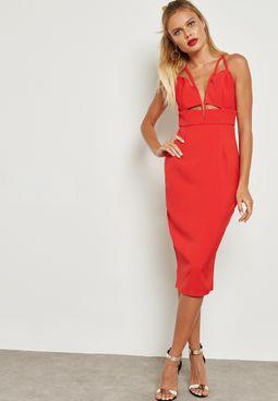Plunge Bodycon Dress