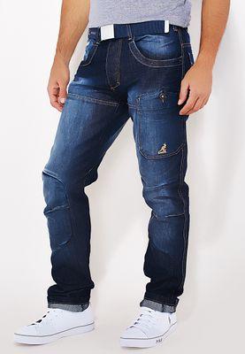 Kangol Straight Fit Dark Wash Jeans