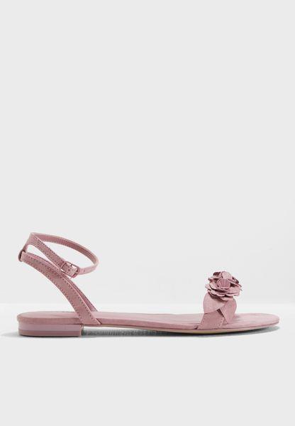 Flat Naked Tonal Sandal