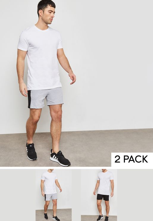 2 Pack Side Striped Shorts