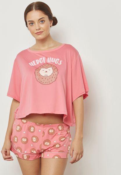 Hedge Hog Pyjama Shorts Set