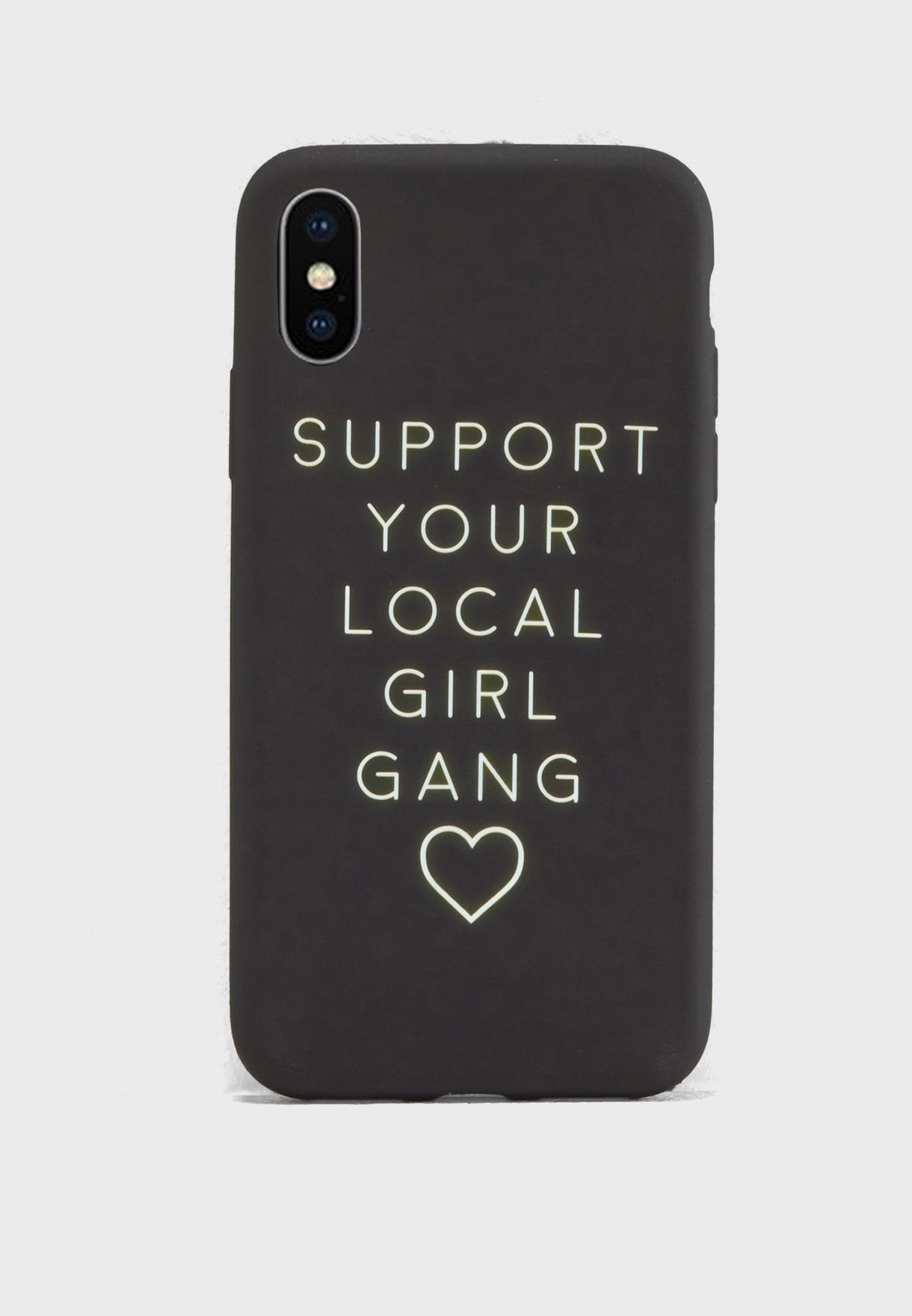 Support Your Local Girl Gang iPhone X Case