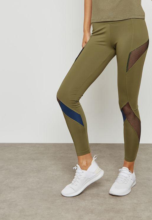 Mesh Intarsia Leggings