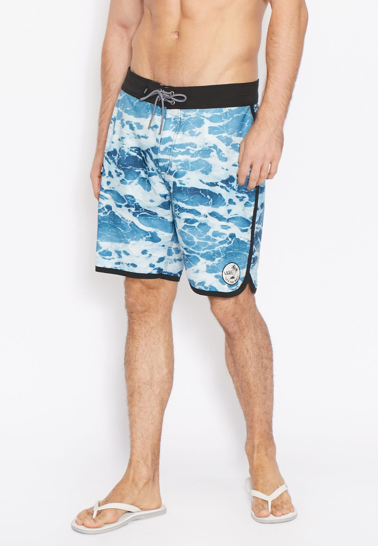 63aeabfccd Shop Vans blue Mixed Scallop Boardshorts for Men in Bahrain ...