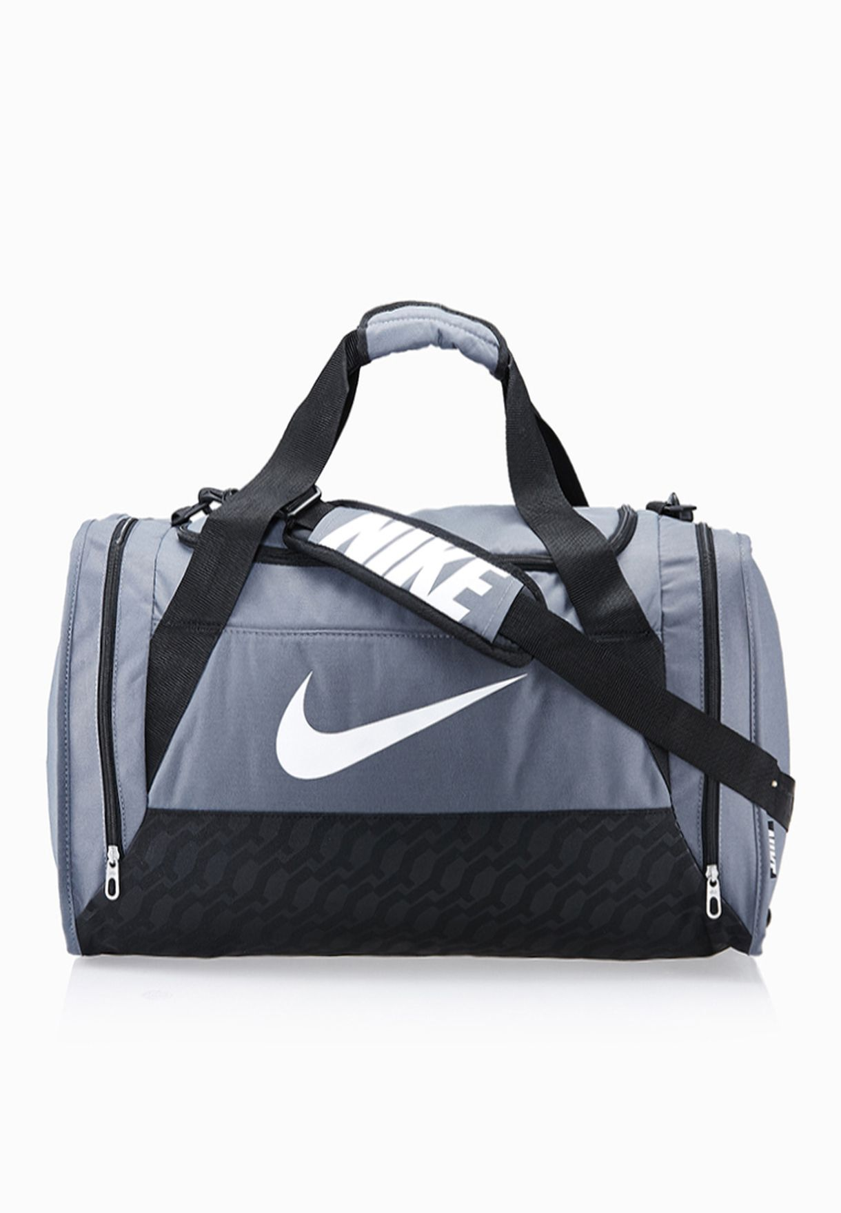 21b19267f72 Shop Nike grey Medium Brasilia 6 Duffel Bag BA4829-074 for Men in Oman -  NI727AC38URT