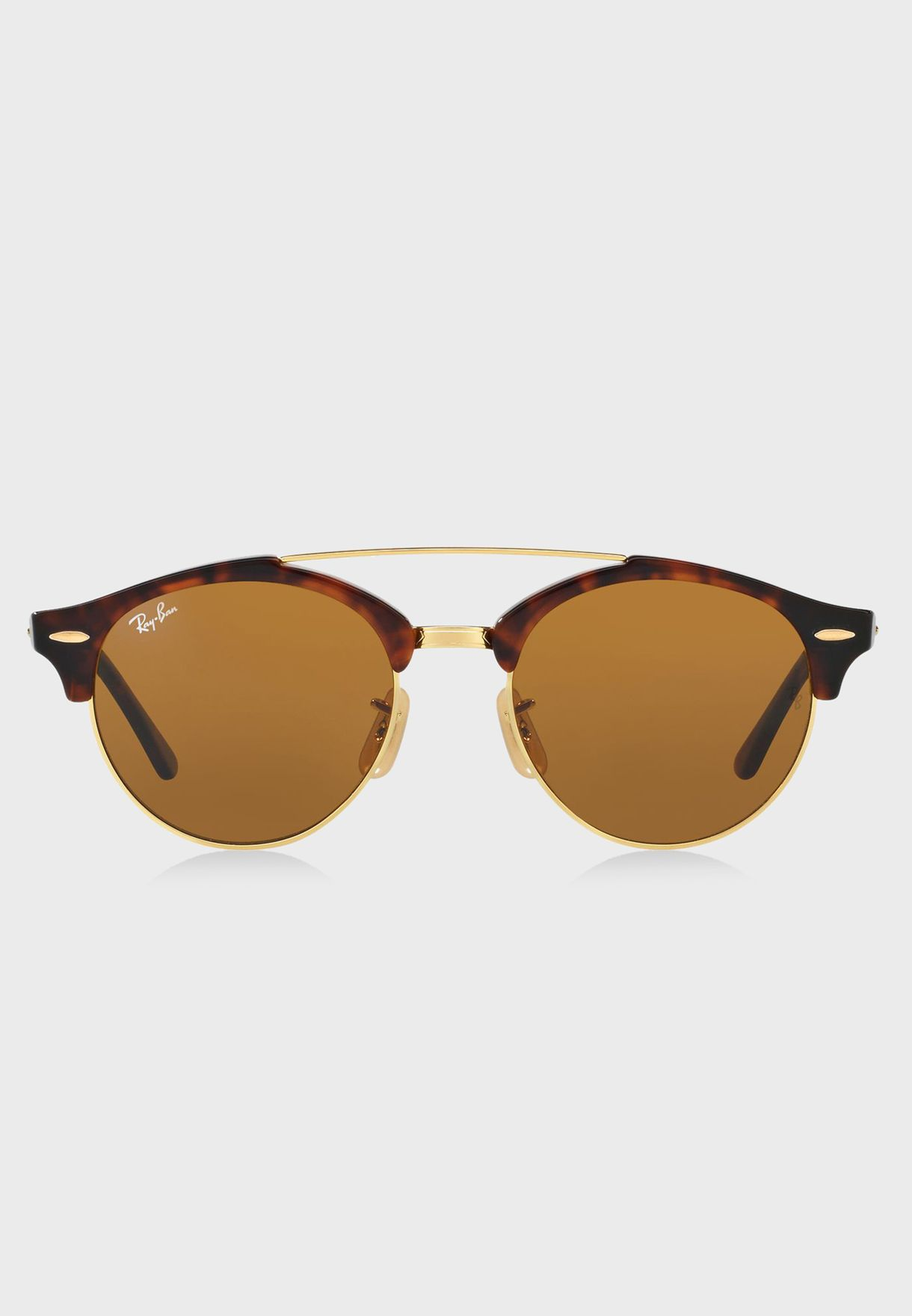 eed63a9c5f Shop Ray-Ban browns Clubround Double Bridge Sunglasses for Women in Bahrain  - RA736AC38SNT