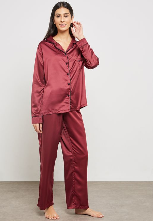 Claudia Tie Waist Pyjama Set
